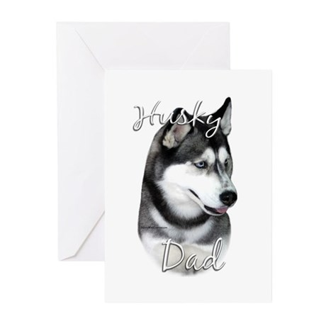 Husky Dad2 Greeting Cards (Pk of 10)