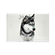 Husky Dad2 Rectangle Magnet