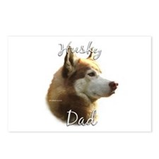 Husky Dad2 Postcards (Package of 8)
