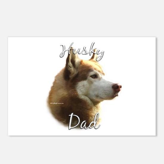 Husky Dad2 Postcards (Package of 8)