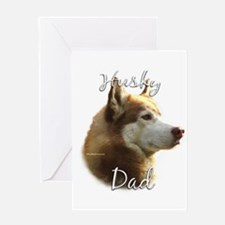 Husky Dad2 Greeting Card
