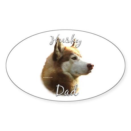 Husky Dad2 Oval Sticker