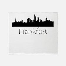 Frankfurt Germany Cityscape Throw Blanket
