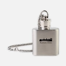 Buenos Aires Argentina Cityscape Flask Necklace