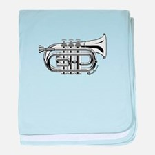 Pocket trumpet b flat b and w baby blanket