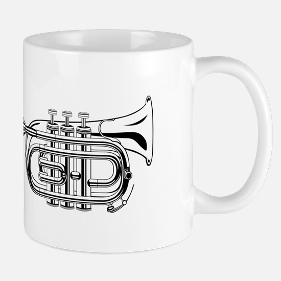 Pocket trumpet b flat b and w Mugs