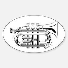 Pocket trumpet b flat b and w Decal