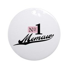 Number One Memaw Ornament (Round)