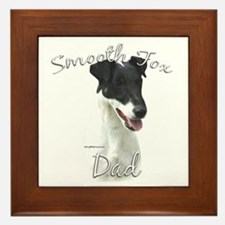 Smooth Fox Dad2 Framed Tile