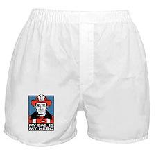 My Dad is my Hero (fireman) Boxer Shorts