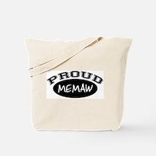 Proud Memaw (black) Tote Bag