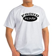Proud Memaw (black) Ash Grey T-Shirt