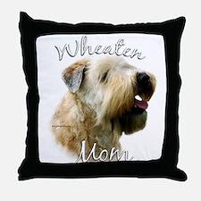 Wheaten Mom2 Throw Pillow