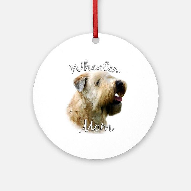 Wheaten Mom2 Ornament (Round)