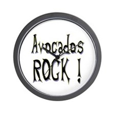 Avocados Rock ! Wall Clock