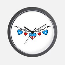 America Banner Wall Clock