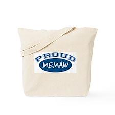 Proud Memaw (blue) Tote Bag