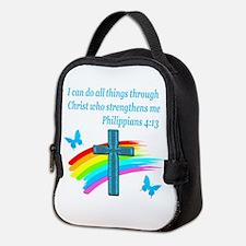 PHILIPPIANS 4:13 Neoprene Lunch Bag