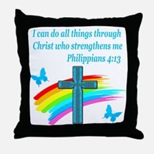 PHILIPPIANS 4:13 Throw Pillow