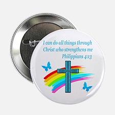 """PHILIPPIANS 4:13 2.25"""" Button"""