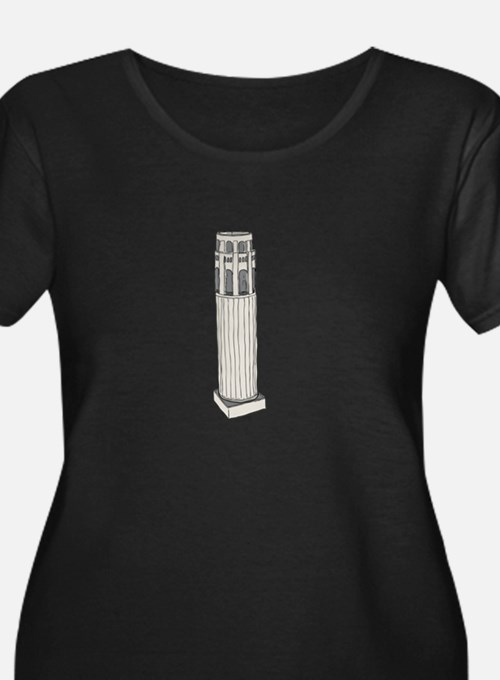 Coit Tower From Above Plus Size T-Shirt