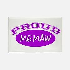 Proud Memaw (purple) Rectangle Magnet