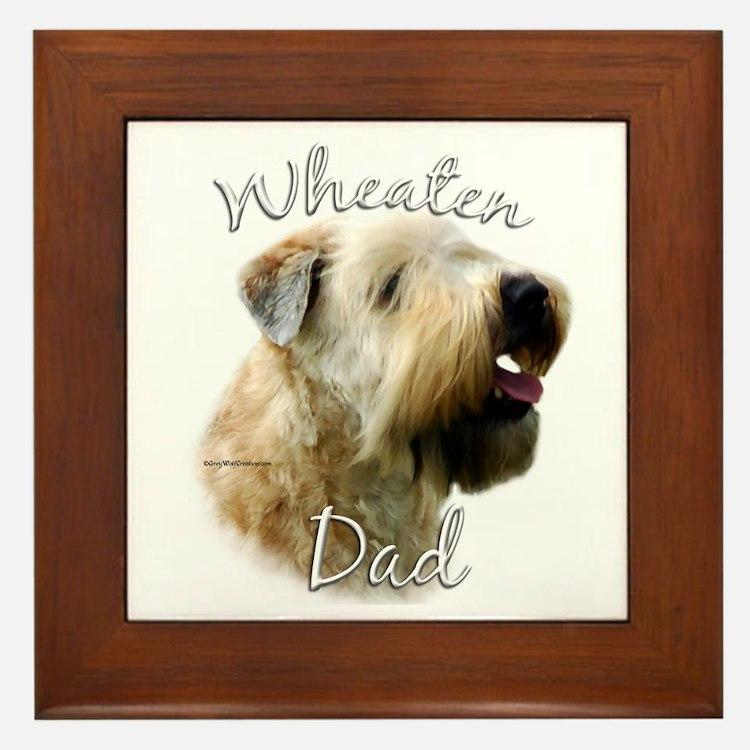 Wheaten Dad2 Framed Tile