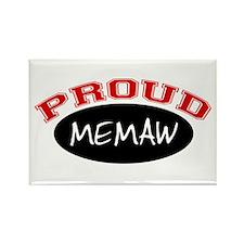Proud Memaw (red & black) Rectangle Magnet