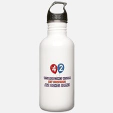 Funny 42 wisdom saying Water Bottle