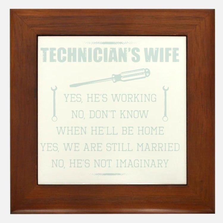 Cute Wife Framed Tile