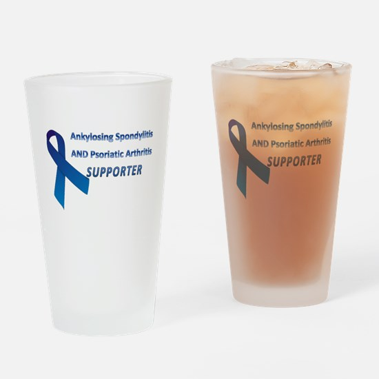 AS & PsA Supporter Drinking Glass
