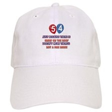 54 year old designs Baseball Baseball Cap