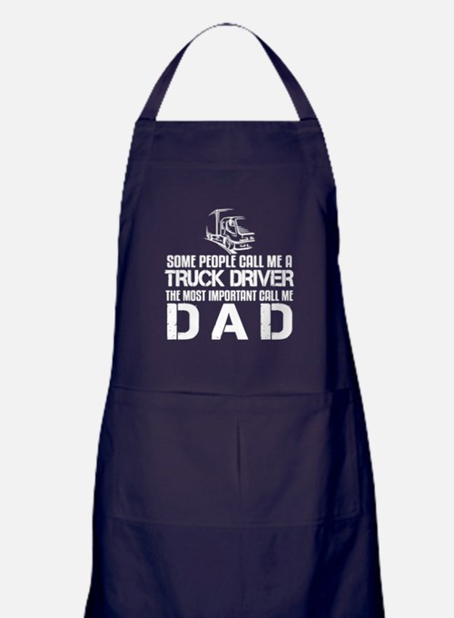 Cute Truck driver dad Apron (dark)