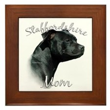 Staffy Mom2 Framed Tile
