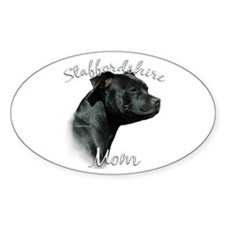 Staffy Mom2 Oval Decal