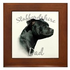 Staffy Dad2 Framed Tile