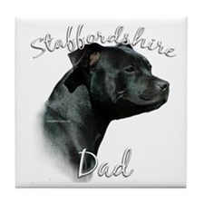 Staffy Dad2 Tile Coaster