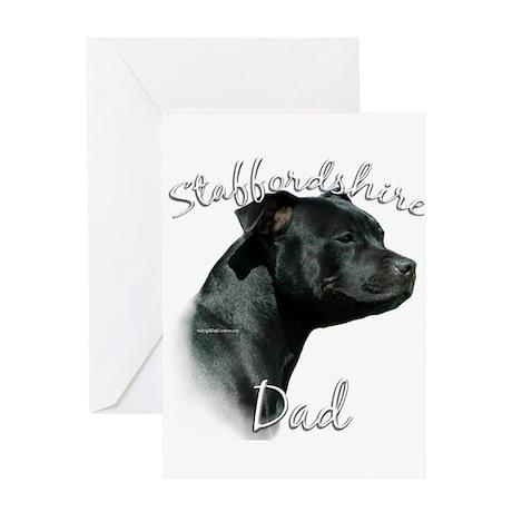 Staffy Dad2 Greeting Card