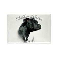 Staffy Dad2 Rectangle Magnet