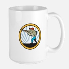 Spotted Sea Trout Hunter Shooting Circle Retro Mug