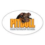 PITBULL Oval Sticker