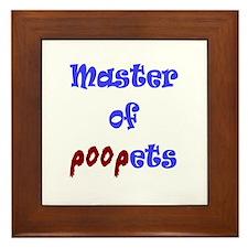 Master of Poopets Framed Tile