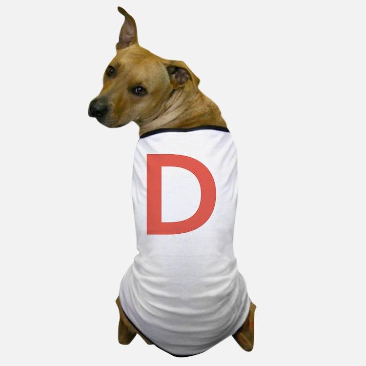 Cute Big letter Dog T-Shirt
