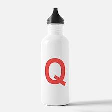 Big Red Letter Water Bottle