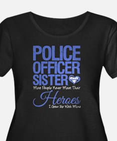 Proud Sister of a Police Officer Plus Size T-Shirt