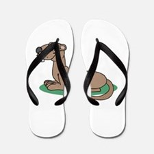 Groundhog cartoon Flip Flops