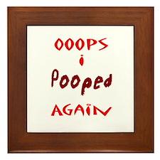 Oops I Pooped Again Framed Tile