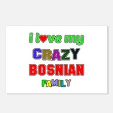 I love my crazy Bosnian f Postcards (Package of 8)