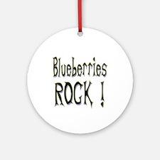 Blueberries Rock ! Ornament (Round)