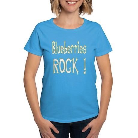 Blueberries Rock ! Women's Dark T-Shirt